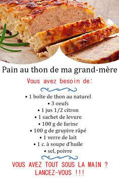 Ramadan Recipes 449726712793243317 - Pain au thon Source by tikivanille Best Dinner Recipes, Healthy Breakfast Recipes, Vegan Crockpot Recipes, Cooking Recipes, Seafood Recipes, Soup Recipes, Mexican Dessert Recipes, Easy Vegetarian Lunch, Clean Eating Dinner
