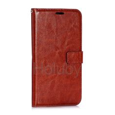 Crazy Horse Wallet Style Magnetic Flip Stand PC + PU Leather Case for Huawei Mate 7 MT7-TL00 (Brown)