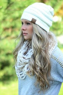 Knit beanie style hat