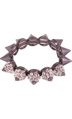 Rhinestone Studded Spike Bracelet $23.99