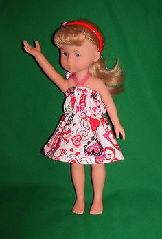 Fits-13-Corolle-Les-Cheries-14-Heart-4-hearts-Doll-Clothes-Dress-w-Headband