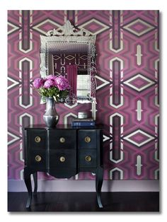 Decorating with Radiant Orchid , Pantone 2014 Color of the Year.