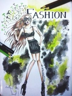 lady gaga fashion illustration (fan art)