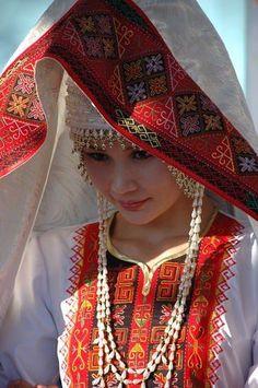 Karakalpak girl in wedding costume
