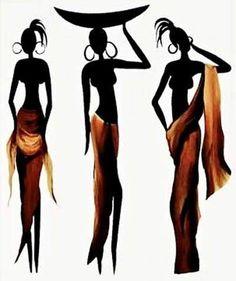 New african american black art woman Ideas African Image, African American Art, African Women, Elephant Afrique, African Art Paintings, Africa Art, Black Artwork, Silhouette Art, Black Women Art