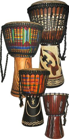 African Instruments   ... learning to play african drums we are improving quickly and beginning