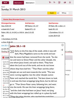 Lectionary app from Church of England https://itunes.apple.com/gb/app/lectionary-official-common/id583885035?mt=8