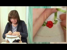 Hand Embroidery - Ribbon work woven roses - YouTube