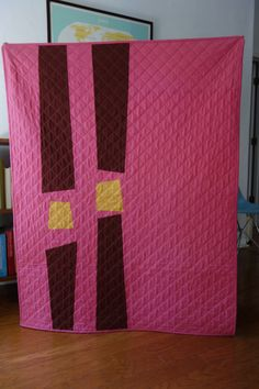 Azalea and cocoa baby quilt finished April 2012