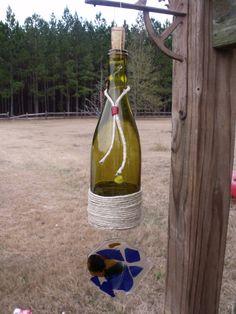 Wine bottle Sun Catcher by FireAntDesign on Etsy, $25.00