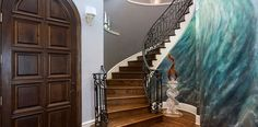 Plano, TX Foyer - Decorating Den Interiors