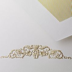 Hand Engraved Botanical Swag Half Sheet: For a short and sweet letter to a dear friend, our half sheets are a staple of any stationery wardrobe. Add an understatedly elegant motif — a botanical-inspired flourish will do the trick — for the perfect amount of personality.