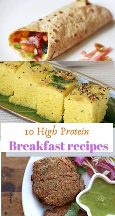 10 high protein breakfast recipes High Protein Snacks, Protein Dinner, Protein Rich Breakfast, Protein Rich Foods, High Protein Low Carb, Breakfast Muffins, Healthy Indian Recipes, High Protein Vegetarian Recipes, Healthy Breakfast Recipes