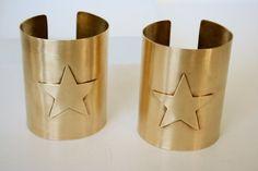 Wonder Woman Cuff Bracelet Set  Star Cuff by CandiceVostrejs