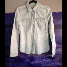 Juicy Couture Light Denim Shirt Never worn Juicy Couture light denim shirt. Beautiful button detail Juicy Couture Tops Button Down Shirts
