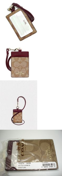 Other Womens ID and Doc Holders 169289: Nwt Coach Sign Pvc Lanyard Id Case In Khaki Sherry F 63274 -> BUY IT NOW ONLY: $34.95 on eBay!