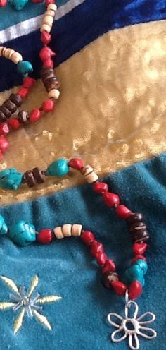 HaNd KnoTteD HiPPie NeCKLaCe/ Gemstone/Coconut Shell by Ivanwerks