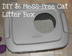 #DIY Mess-Free Cat Litter Box