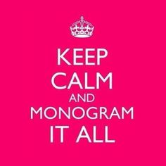 Yep, my Southern Belle heart tells me to monogram it! Initials Inc, Monogram Initials, Monogram Styles, Embroidery Monogram, Embroidery Ideas, Thirty One Gifts, 31 Gifts, Free Gifts, Classy And Fabulous