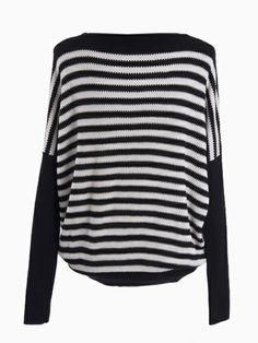 horizontal black and white stripes