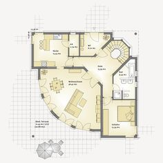 Villa Nova – Büttner solid house - Home & DIY House Layout Plans, Family House Plans, Dream House Plans, Small House Plans, House Layouts, House Floor Plans, Villa Plan, Homestead House, Small House Interior Design