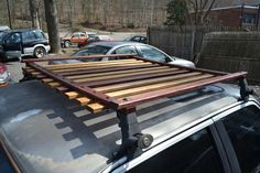 Wooden roof rack ideas