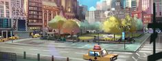 visual development and concept art for Top cat animation movie.