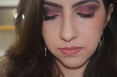 Maquiagem Roxa e Coral - Tutorial de Carnaval