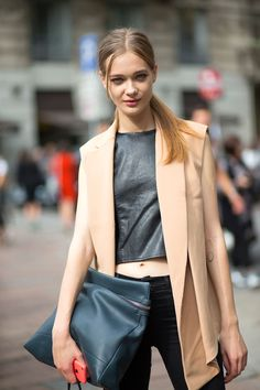 Ciao Bellas! Milan Street Style - sleeveless blazer is just cool