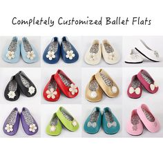 16 COLORS, 10 EMBELLISHMENTS, American Girl Doll Shoes, AG Doll Shoes, 18 inch - Custom Modern Ballet Flats with Rhinestone Embellishments