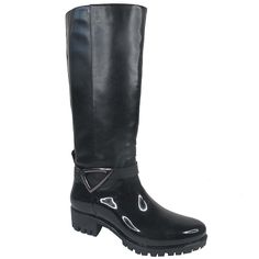 Max Muxun Women's Knee High Black Motorcycle Rain Boots Shoes Waterproof * Read more  at the image link.