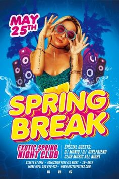 flyer for kids party ~ flyer for kids ; flyer for kids event ; flyer for kids design ; flyer for kids ideas ; flyer for kids party ; Cheap Spring Break Trips, Spring Break Party, Spring Break Vacations, Spring Break Destinations, Free Psd Flyer Templates, Flyer Free, Resume Templates, Spring Break Quotes, Party Flyer