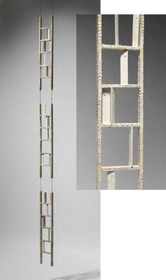 "Katie Dell Kaufman, ""No Easy Way Down"", encaustic assemblage, 2011"