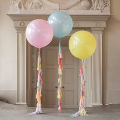 pastel rainbow tassel tail giant balloon by bubblegum balloons ...