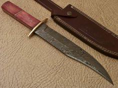 Awesome Custom Hand Made Damascus Full Tang Knife Camel Bone PT 331 | eBay