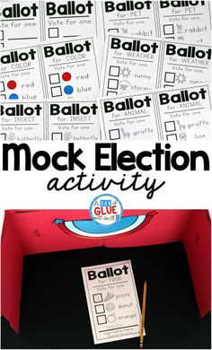 The Presidential Election will be here before we know it. Since this is an event that only happens every four years, it is so important to introduce the concept to even the littlest of learners. This can easily be done by having a mock election in the cla Kindergarten Social Studies, Social Studies Activities, Teaching Social Studies, Help Teaching, In Kindergarten, Teaching Ideas, Library Activities, History Activities, Steam Activities