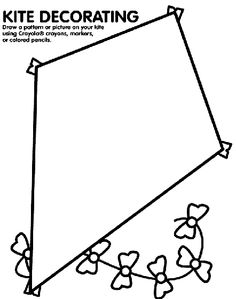 Kite Decorating coloring page