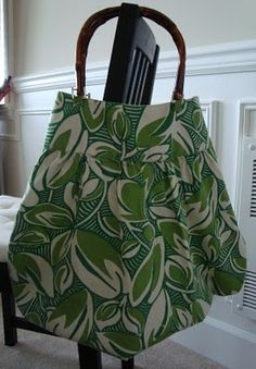Cheap skirt made into summer bag...cute!