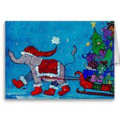 Christmas Shopping Greeting Card