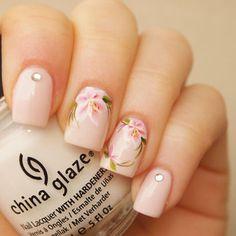 Shop Floral Nails on Wanelo