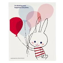 The Land of Nod | Kids Art Prints: Exclusive Happy Bunny Wall Art in All Wall Art
