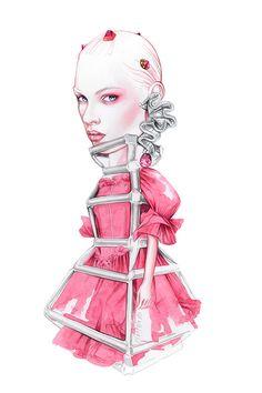 Comme Des Garçons fashion illustration by António Soares
