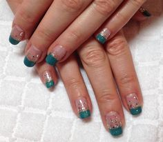 Green French by Hisako - Nail Art Gallery nailartgallery.nailsmag.com by Nails Magazine www.nailsmag.com #nailart