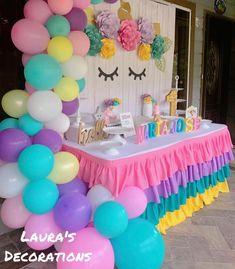 Unicorn Themed Birthday Party, Girl Birthday Themes, Unicorn Party, Birthday Diy, Deco Ballon, Birthday Balloon Decorations, Balloon Arch, Watch, Bedroom Decor