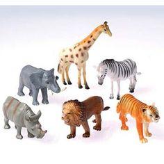"Dozen Plastic Toy Safari Animals 4 1/2"" US Toy http://www.amazon.com/dp/B005DB8L2U/ref=cm_sw_r_pi_dp_.7WTtb1480H0XCH9"
