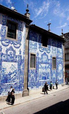 Azulejos Wall in Porto, Portugal
