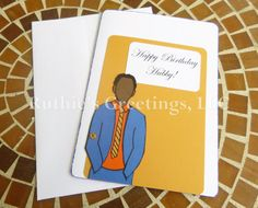 African American Happy Birthday Hubby Card  by RuthiesGreetings