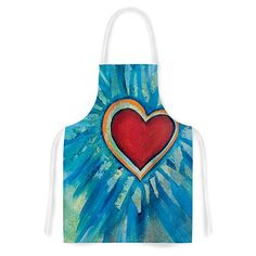KESS InHouse Padgett Mason Love Shines On Artistic Apron 31 by 3575 Multicolor >>> You can get more details by clicking on the image. (This is an affiliate link)