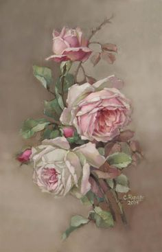 Christie Repasy Designs One of A Kinds Christie Repasy Designs One of A Kinds Art Floral, Vintage Flowers, Vintage Floral, Vintage Prints, Vintage Art, Vintage Rosen, Decoupage Vintage, Rose Art, China Painting