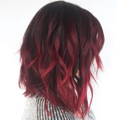 "210 Likes, 5 Comments - Cory Hoffman @ Butterfly Loft (@coryhoffmanhair) on Instagram: ""Be uncommon ❤ . . . Created using @matrixusa Laquers red and magenta"""